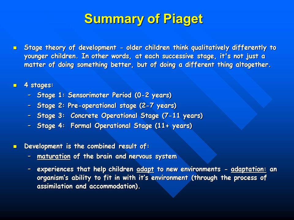 Children\u0027s Cognitive Development Alternatives to Piaget Outline