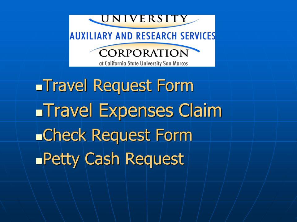 Travel Request Form Travel Request Form Travel Expenses Claim Travel
