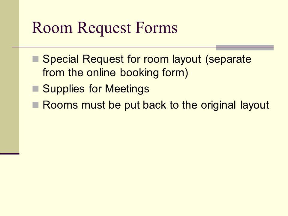 Facilities Procedures Bill Haller Key Request Forms Individual