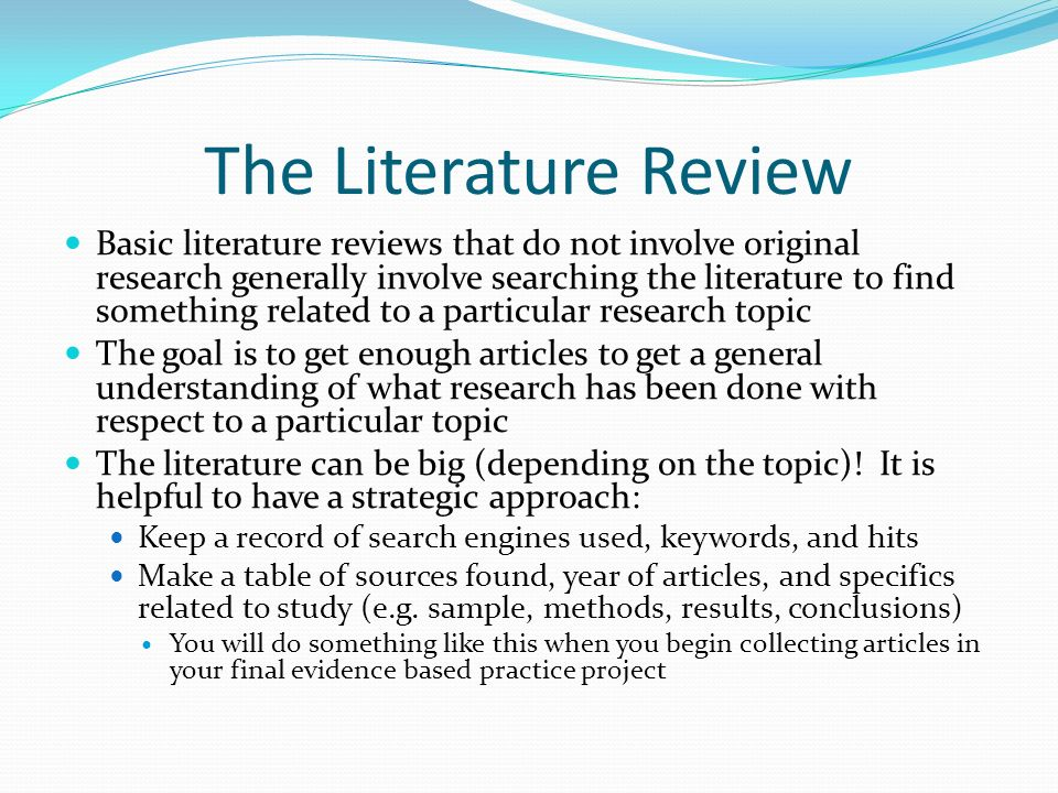Apa format literature review sample - Academic Writing Services From