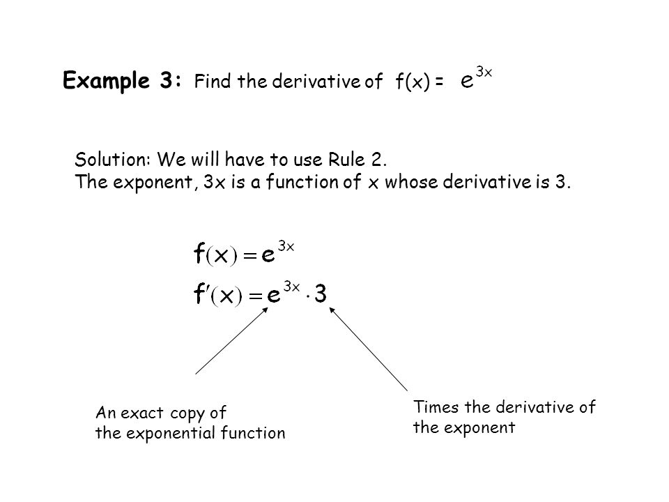 Review Differentiation of Exponential Functions - ppt download