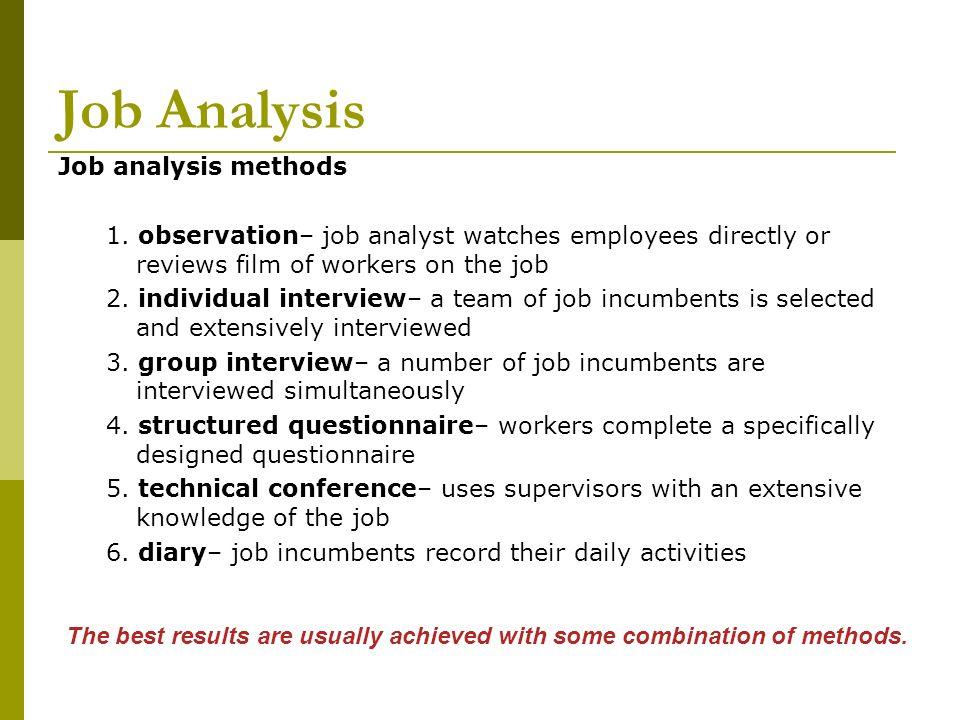 Jobs analysis, Research paper Academic Service faessayyodrdigiarea - job analysis report