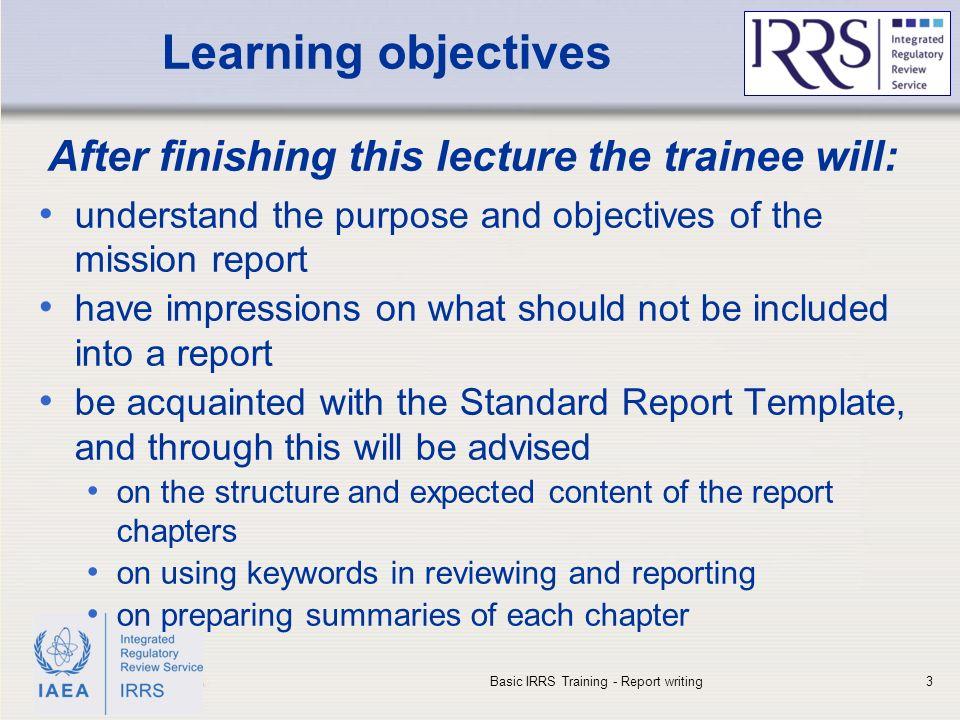IAEA International Atomic Energy Agency IAEA Outline Learning