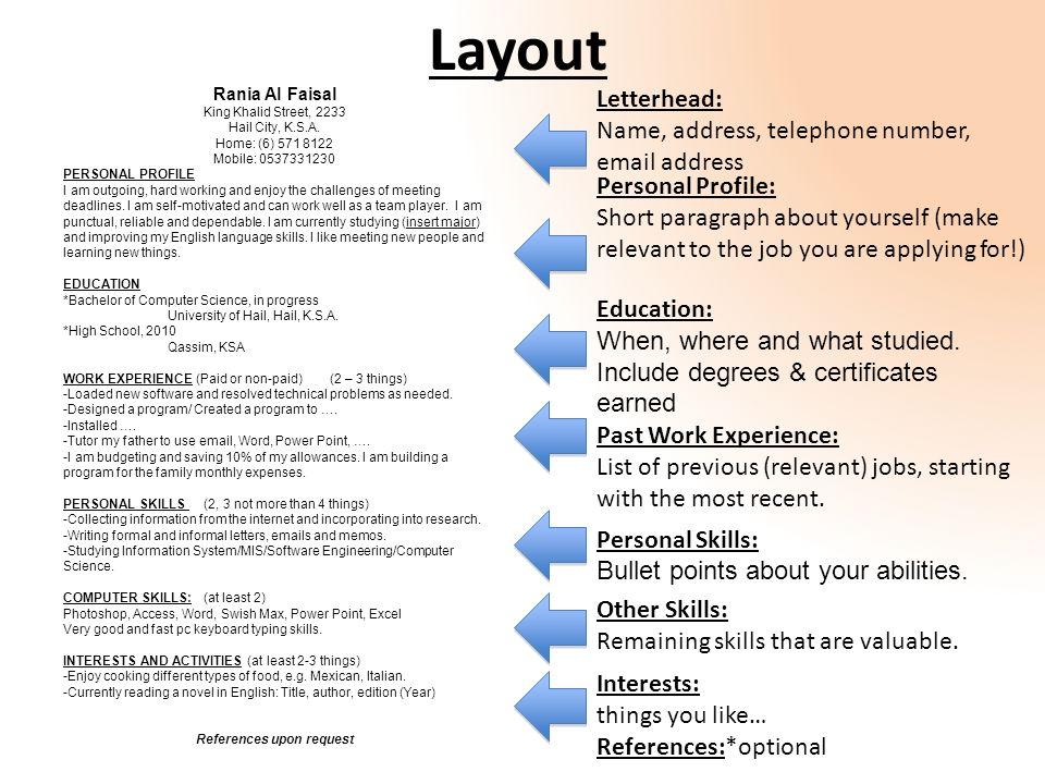 personal skills list resume - zrom