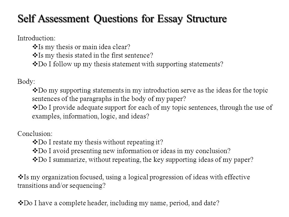 example of self assessment essay write essay about yourself  sample self assessment employee self assessment examples employee self assessment essay example of self assessment
