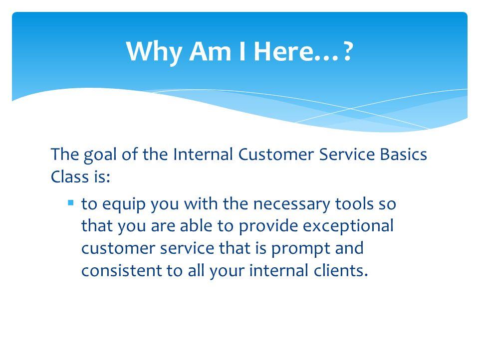 Internal Customer Service Basics A guide to effective internal