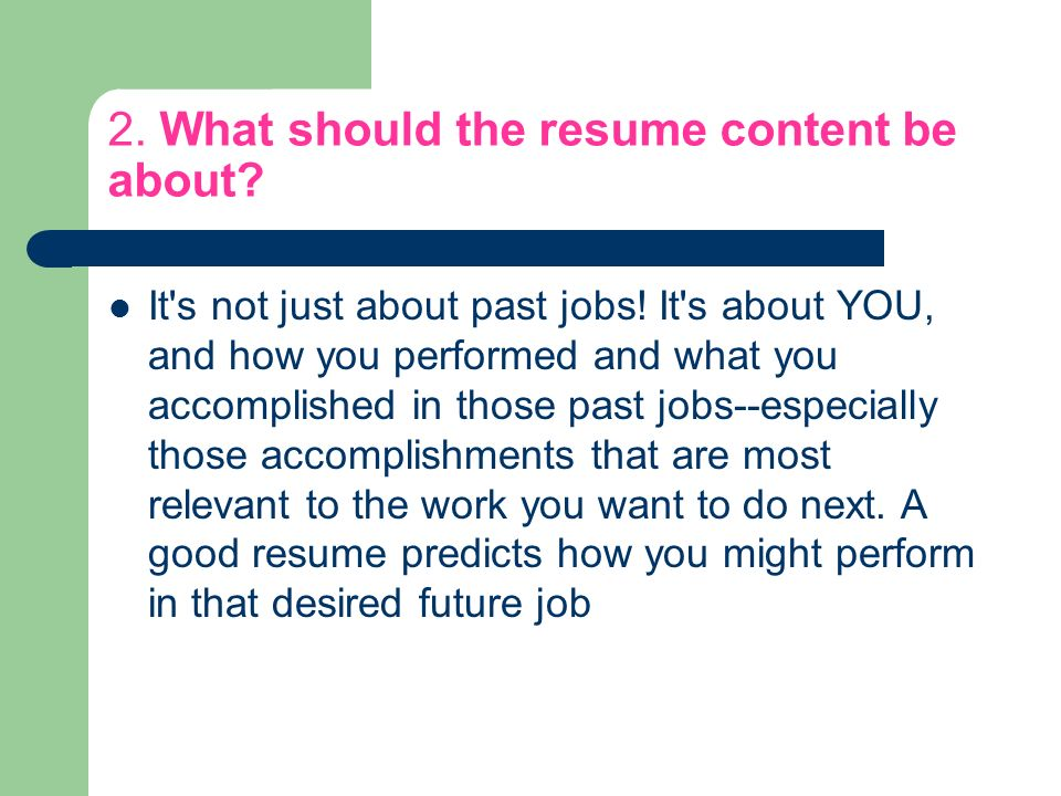 FAQ about resumes Your guide to success! This has nothing to do with