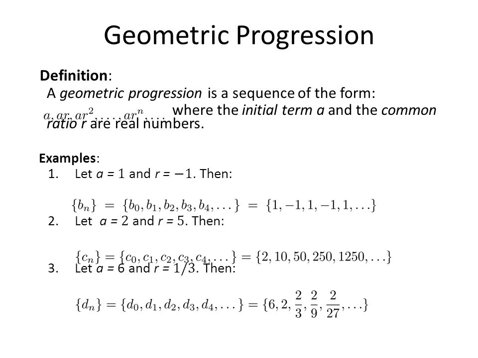 Sequences and Summations Section 24 Section Summary Sequences