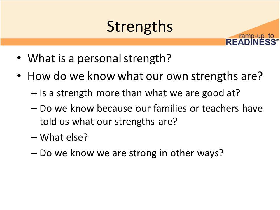 Identifying Strengths 8 th Grade Personal Strengths Minarik, ppt