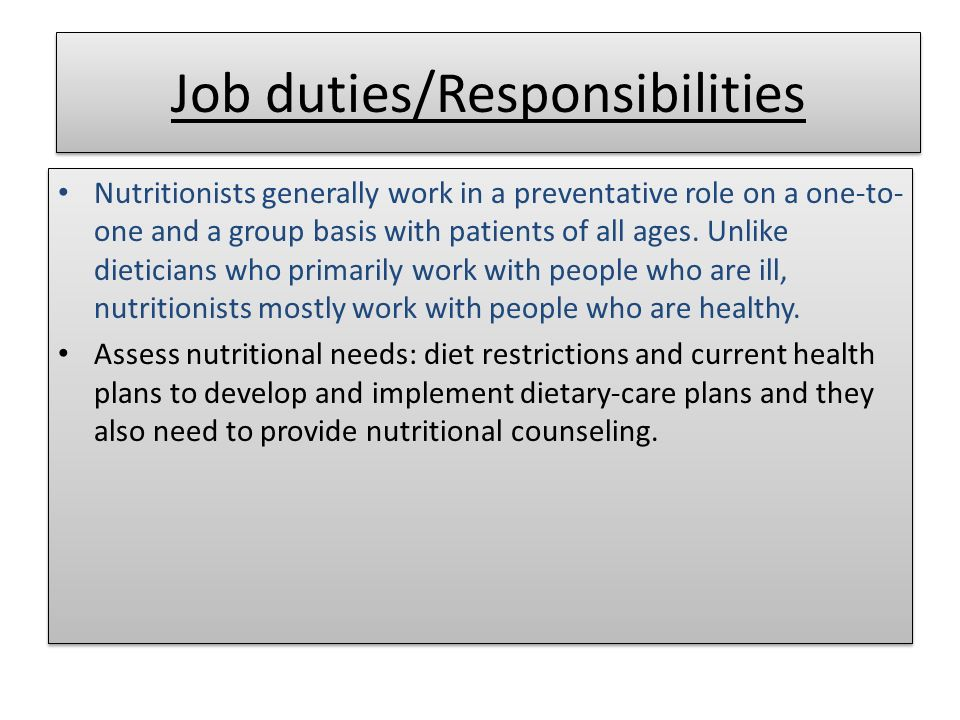 Nutritionist Dietitians and nutritionist plan food and nutrition