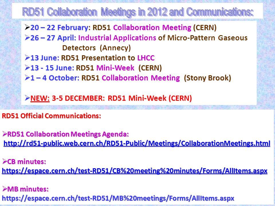 RD 51 Collaboration News Leszek Ropelewski (CERN), Maxim Titov (CEA