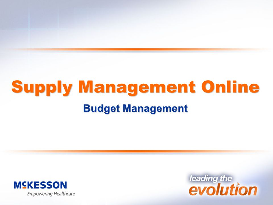 Supply Management Online Budget Management Supply Management Online