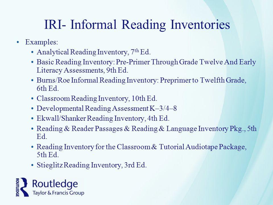 Chapter 4 Informal Assessment Informing Instruction - ppt download