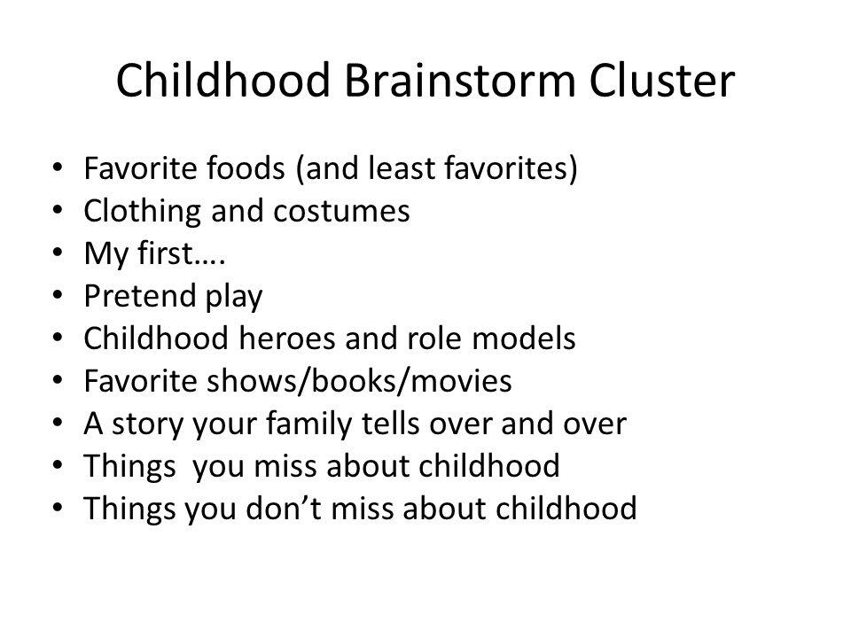 Childhood memories essay topics