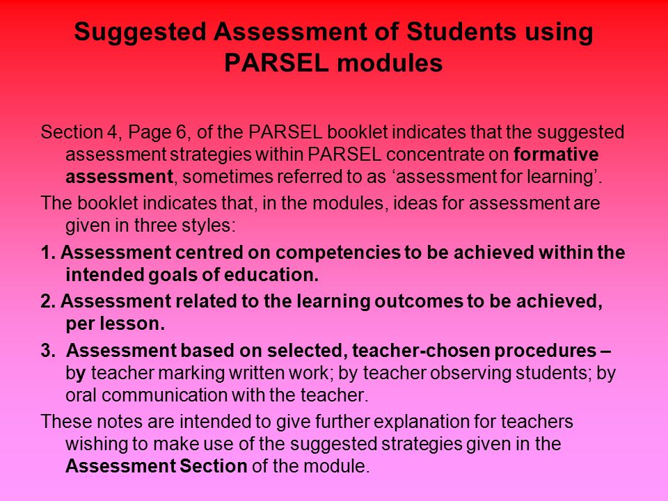 An Introduction to Formative Assessment as a useful support for - formative assessment strategies