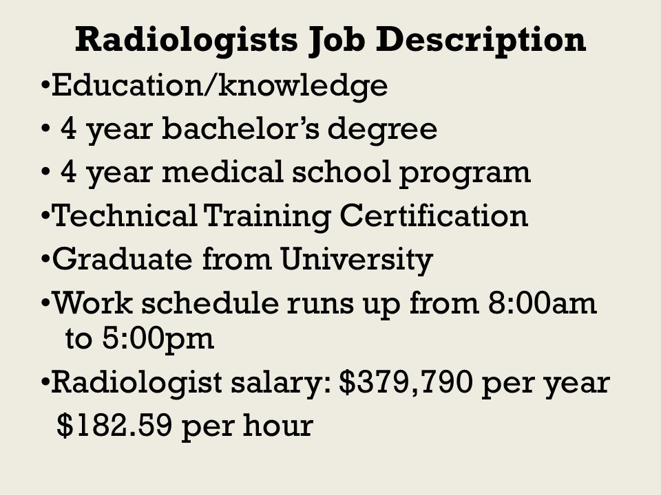 Radiologist Job Description Radiologist Resume And Salary - radiologist job description