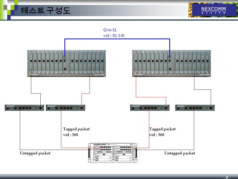 N5000 Q-in-Q Test Report 테스트 구성도 Tagged packet vid  560