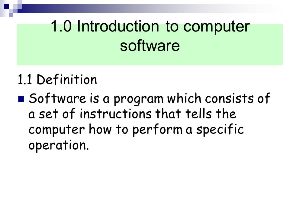 COMPUTER SOFTWARE FORM 1 Learning Area Introduction to computer