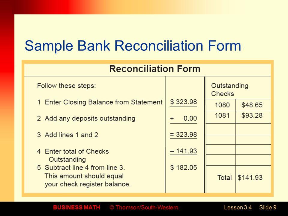 check reconciliation form - Intoanysearch