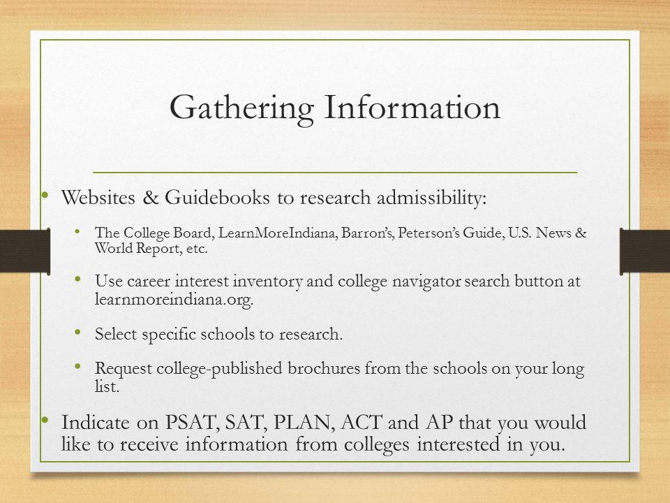 The Private College Admission Process Valparaiso High School