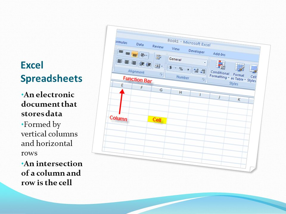 Spreadsheets 101 What is Excel? Objectives 1 Identify the parts of