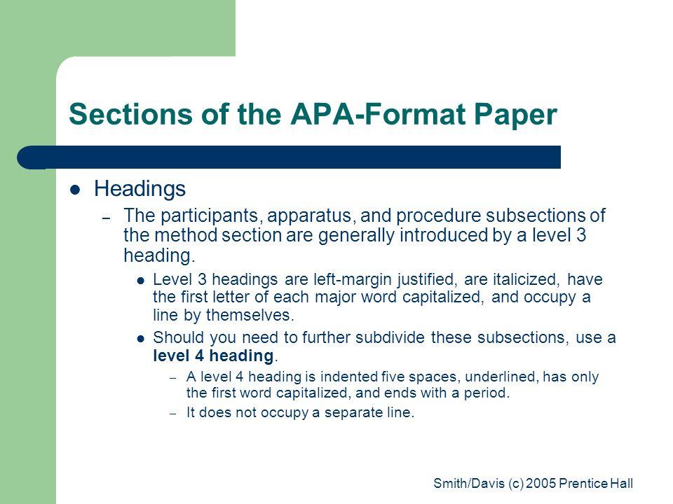 apa format paper headings - Apmayssconstruction