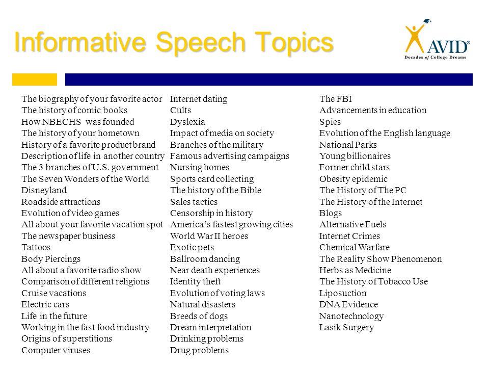 Sports informative speech topics Term paper Academic Service