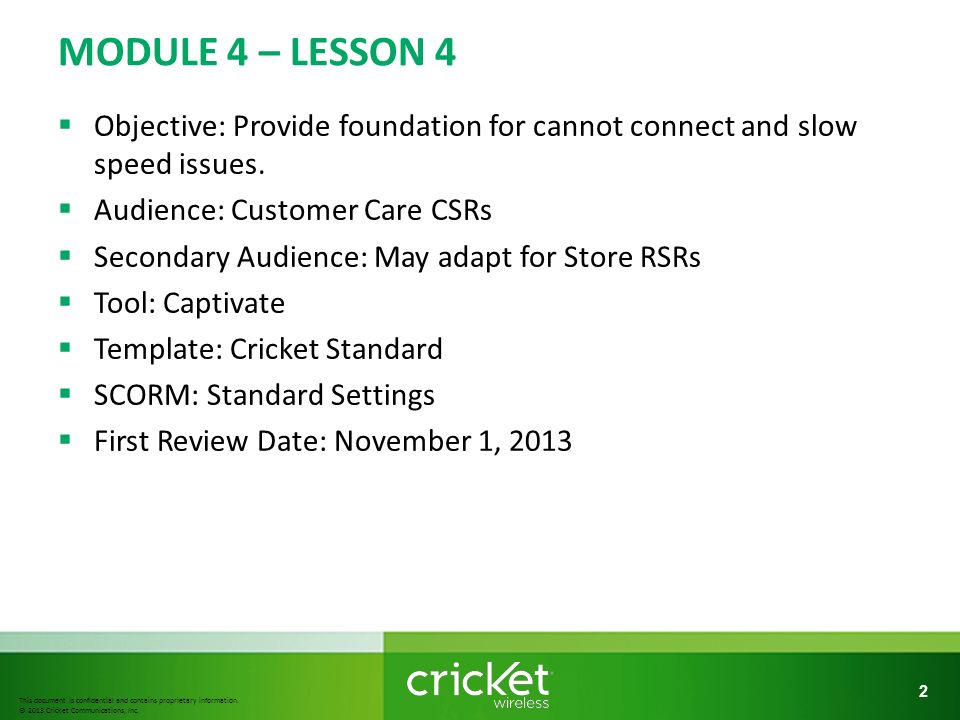 This document is confidential and contains proprietary information - cricket number customer service