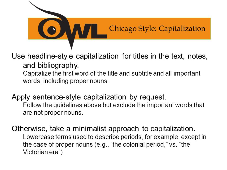 Chicago\u0027s Footnotes and Bibliography Formatting and Style Guide