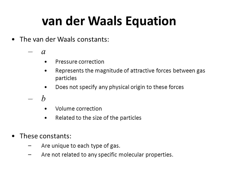 van der Waals equation Nerdy Girl Pinterest Equation - complaint form