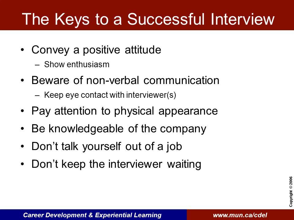 Keys To Successful Interview cvfreepro