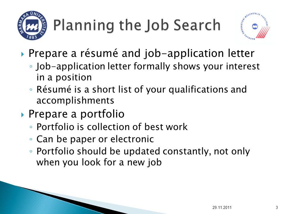 Lecture 4 Preparing Job-application Materials ppt download