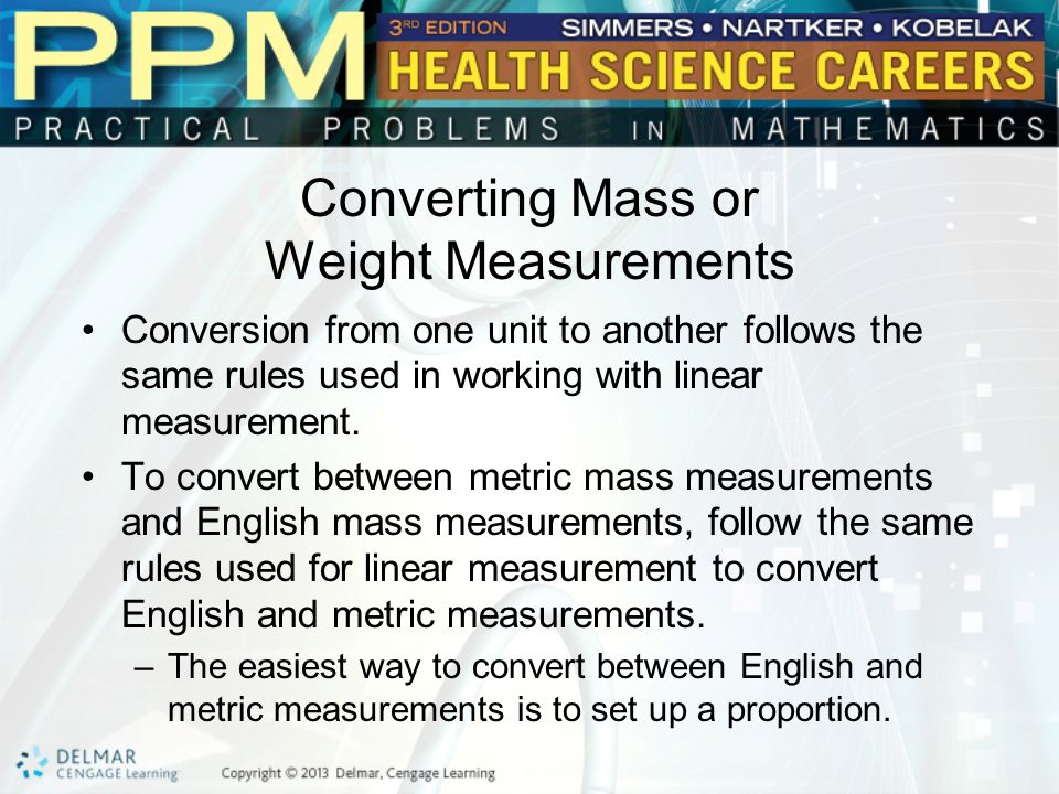 Unit 23 Mass or Weight Measurement Basic Principles of Mass or