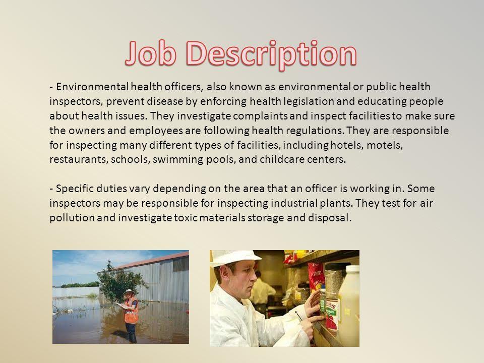 Environmental Health Officer Job Profile Planit Job Profiles - environmental health officer sample resume