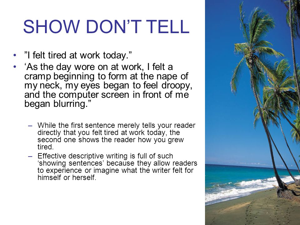 DESCRIPTIVE WRITING PUT NOTES IN LINK SPIRAL (next page) - ppt download