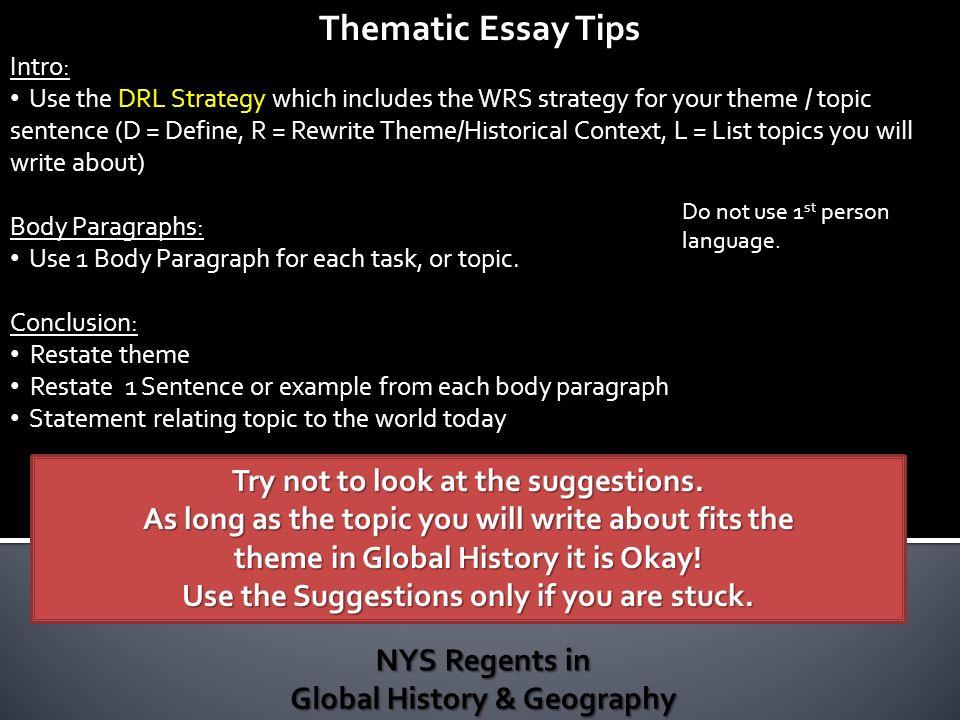 Global history regents thematic essay Custom paper Help