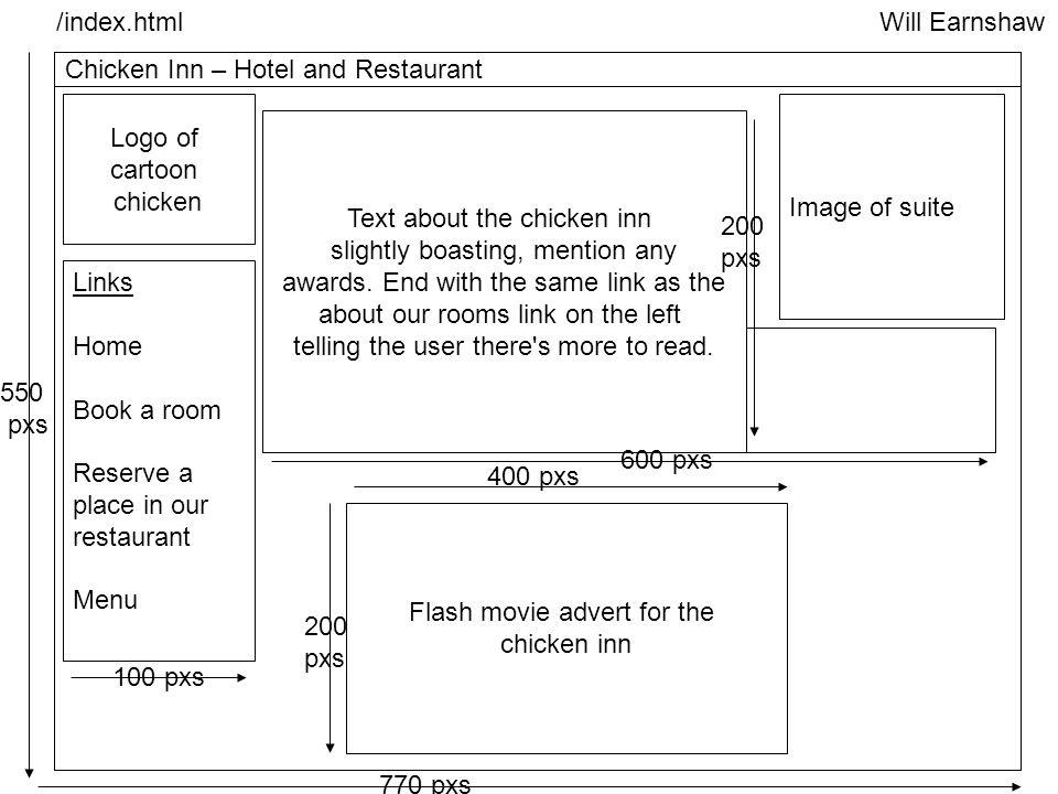 Will Earnshaw Chicken Inn website storyboard Will Earnshaw Chicken