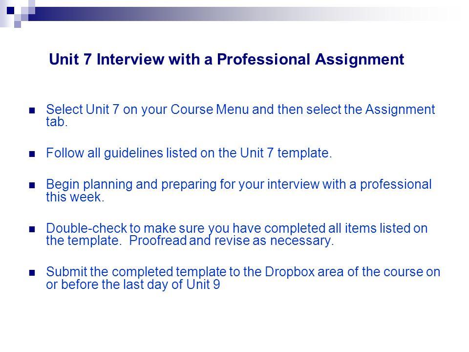 Welcome! Academic Strategies Unit 7 Seminar General Questions - seminar planning template