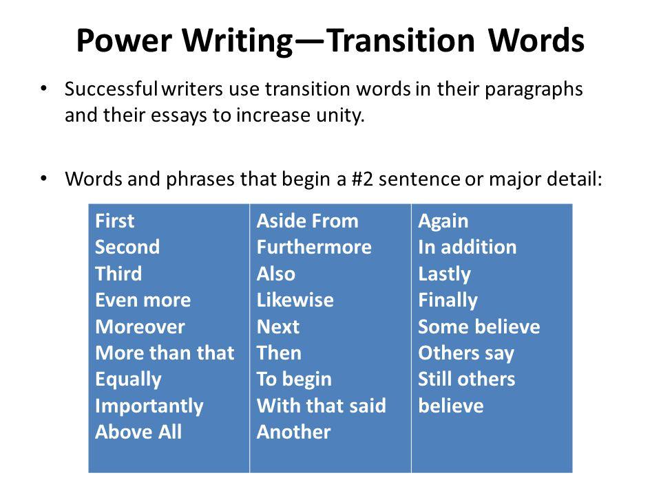 Good essay transition words - Transition Words Phrases - Smart Words - transition words for college essays