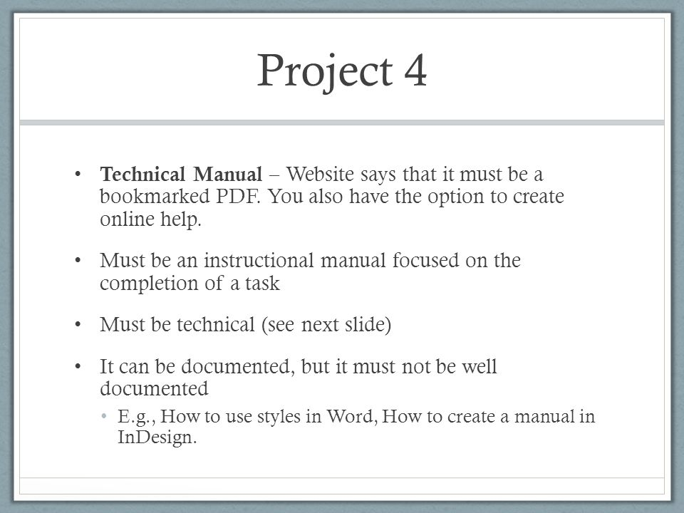Introduction to Technical Manuals TECM 4250 Dr Lam - ppt download - instructional manual
