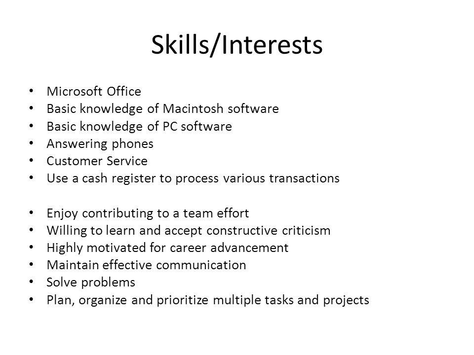 computer skills to list on a resumes - Josemulinohouse