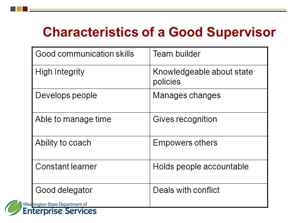 Supervision Essentials I Department of Enterprise Services