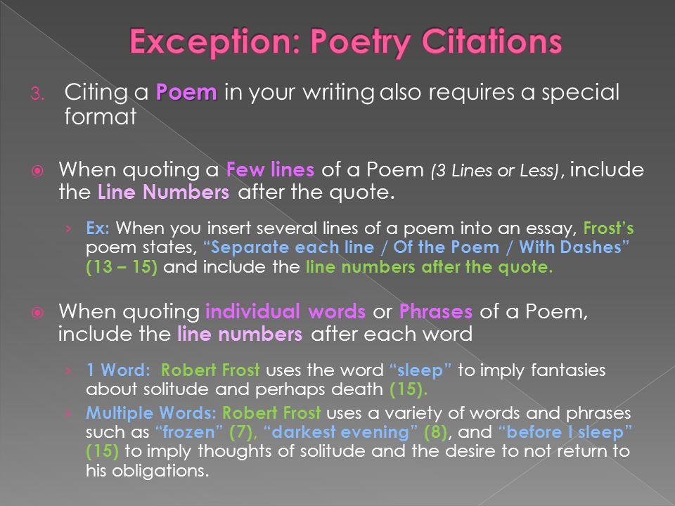 Quoting poems in mla essay College paper Help nfcourseworkfymc