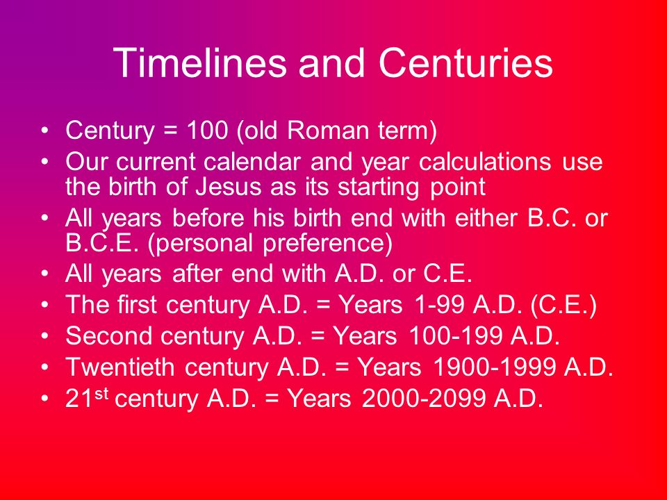Calculating Years What do all those letters mean