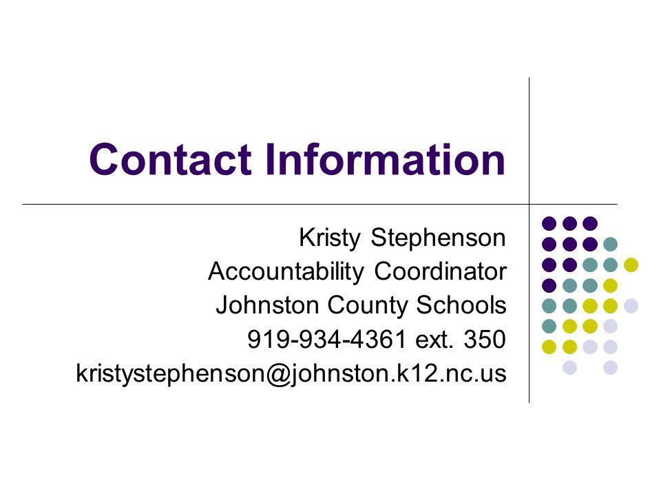 Exporting Goal Summary Data Kristy Stephenson Johnston County