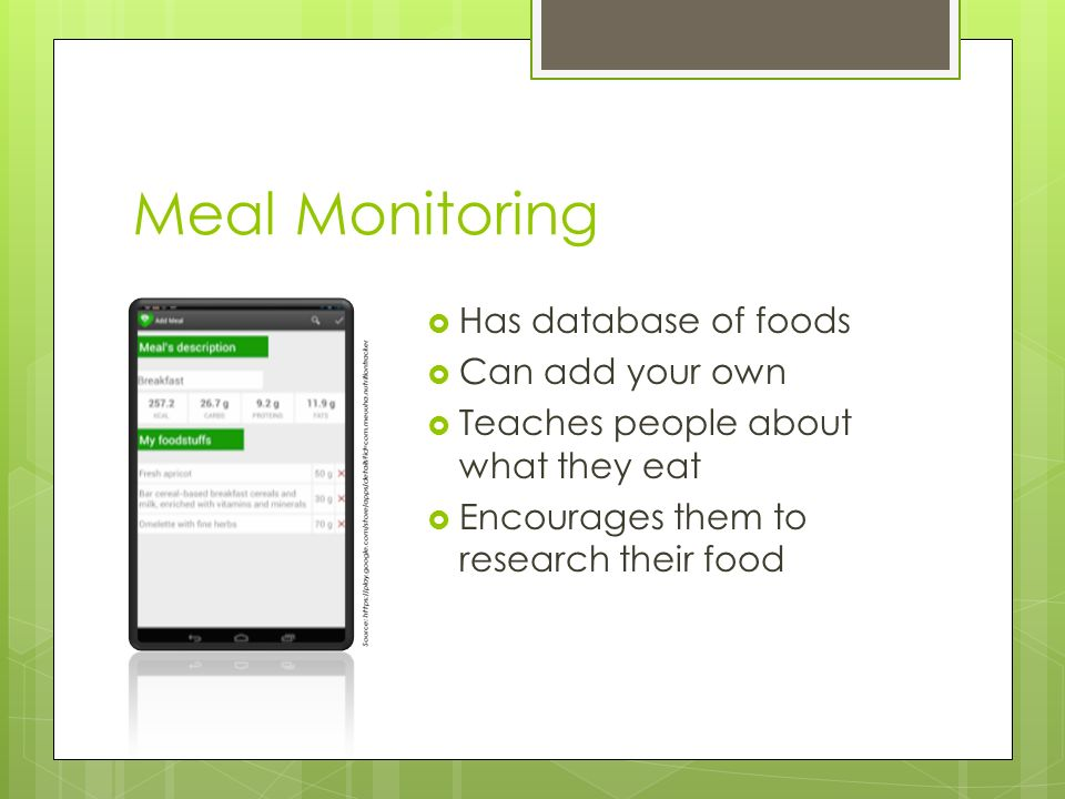 Nutrition Tracker App from MEUUHA APPS Presentation by Sean Stives - nutrition tracker