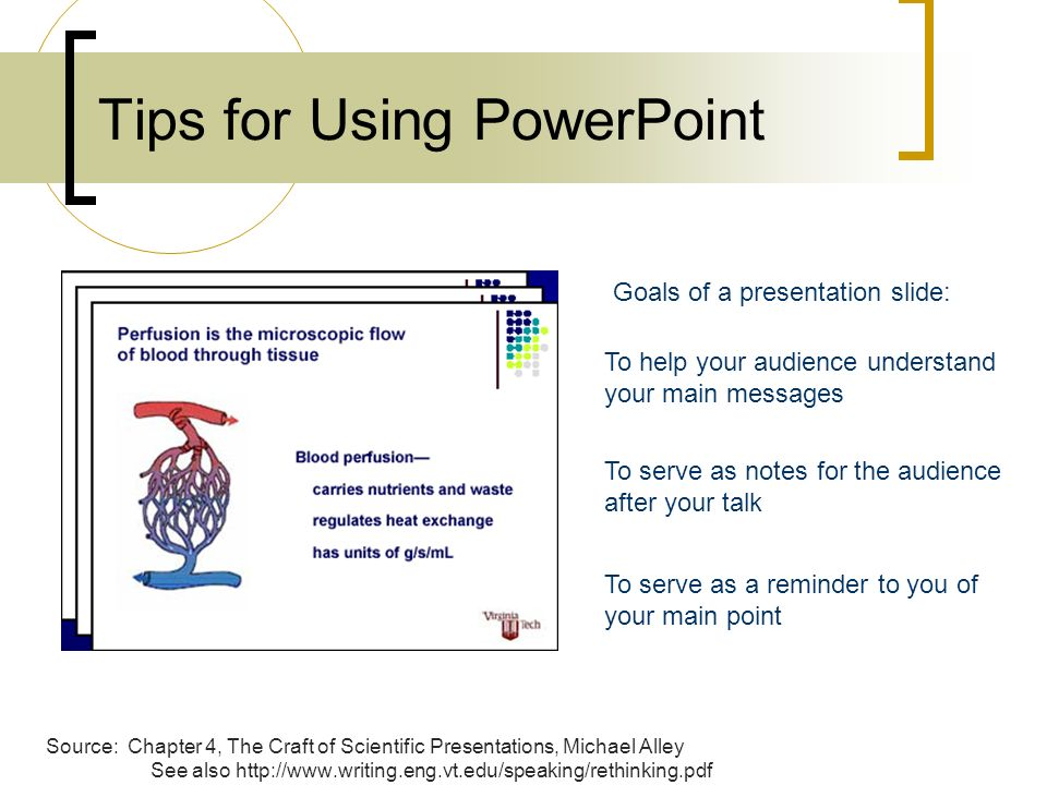 Tips for Using PowerPoint Source Chapter 4, The Craft of Scientific