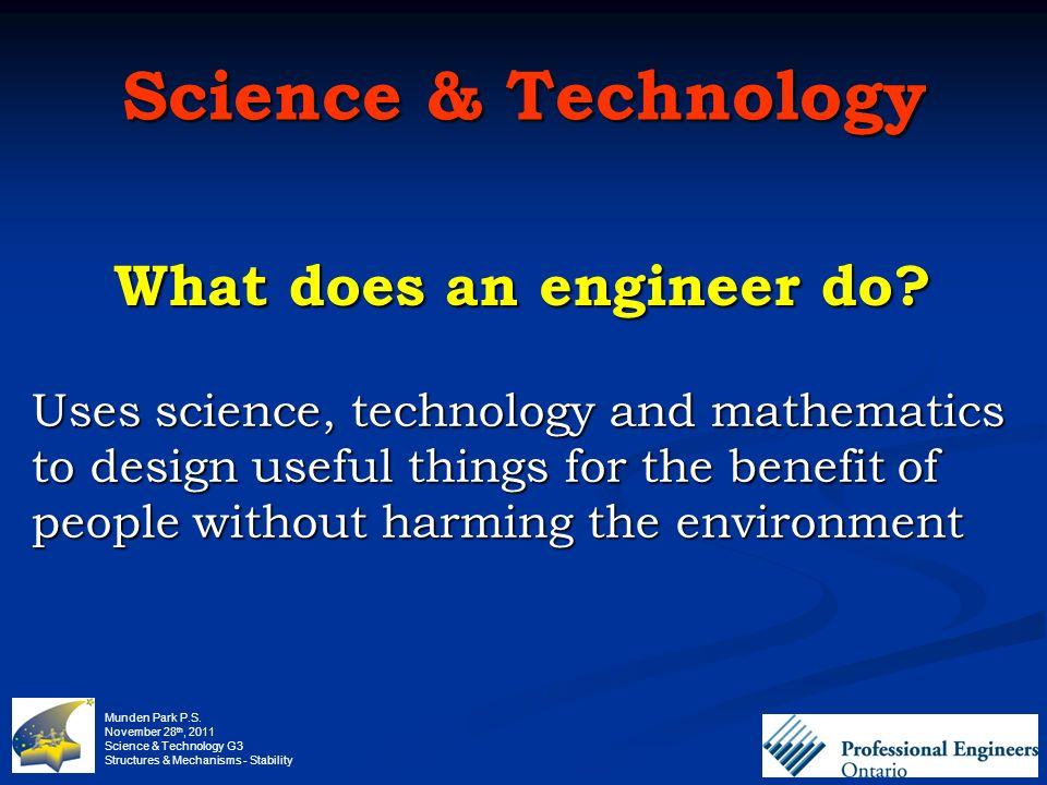 Munden Park PS November 28 th, 2011 Science  Technology G3