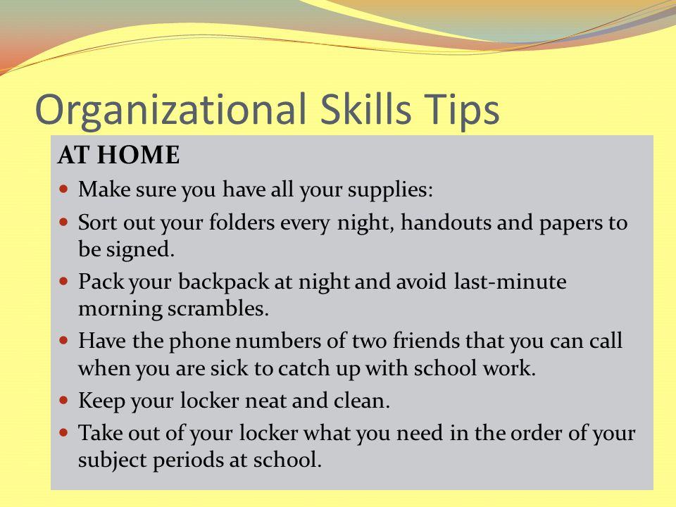 October 3, Organizational Skills 2 Time Management Skills 3 Active