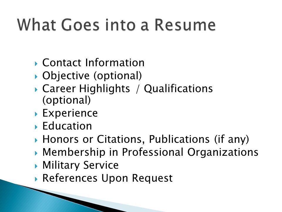 Mr Gragert English IV  What Goes into a Resume  Resume - what goes on a resume